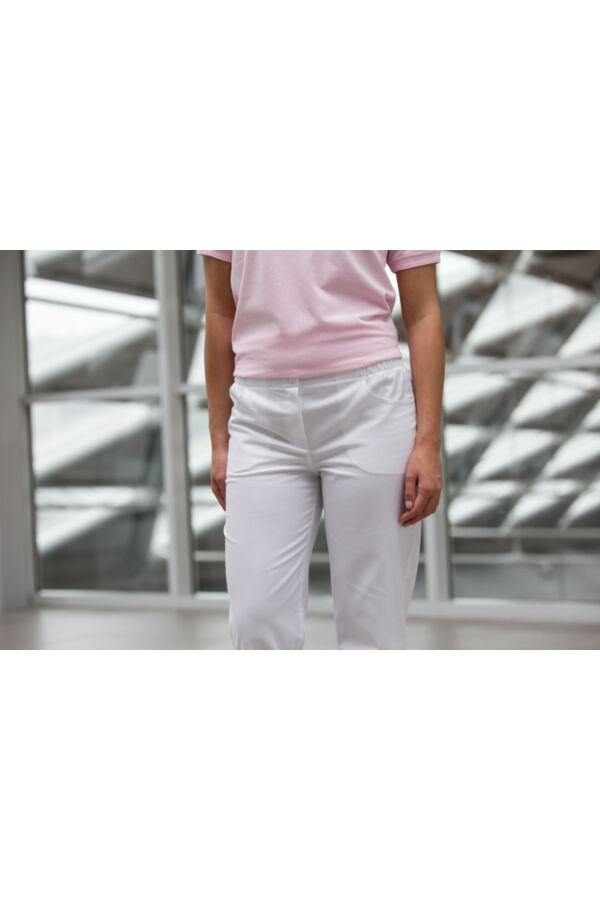 da87ec36a7 Gumis derekú fehér nadrág - Nadrágok - Egészségügyi munkaruhát keres ...